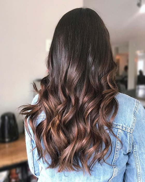 Dark Hair with Chestnut Highlights
