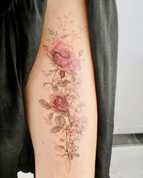 Delicate Watercolor Roses