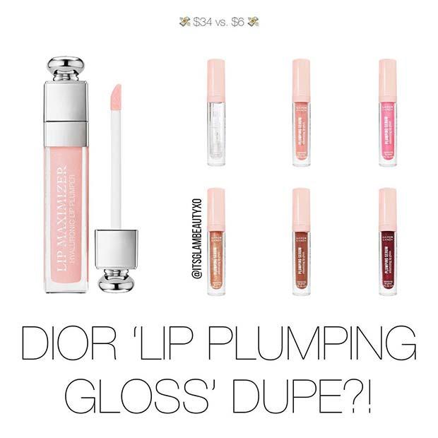 Dior Lip Plumping Gloss Dupe