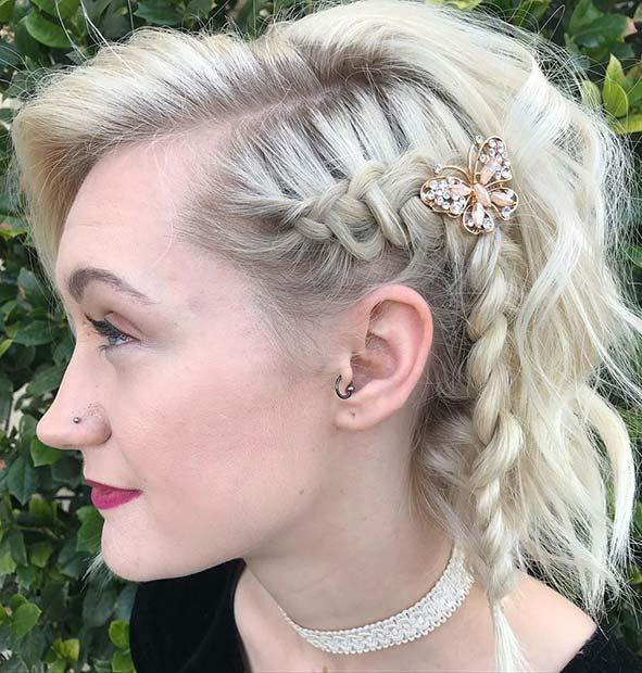 Edgy Side Braid for Short Hair