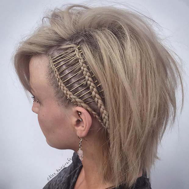 Edgy and Unique Braids for Short Hair