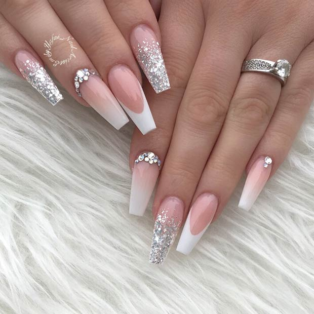 Elegant French Coffin Nails