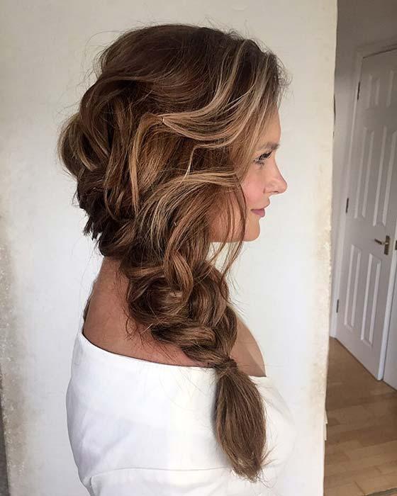 Elegant Messy Side Braid