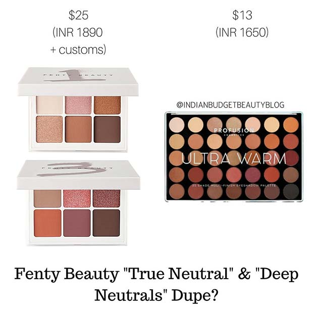 Fenty Beauty Eyeshadow Dupe