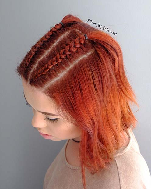 Two Braids for Short Hair