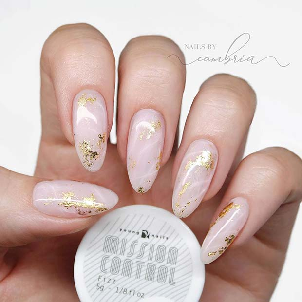 Glam Acrylic Almond Nails