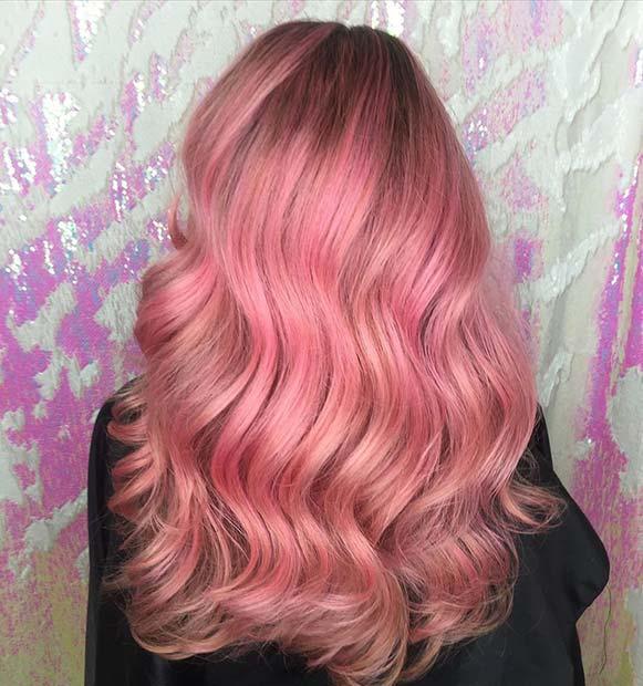 Glam Pastel Pink Hair