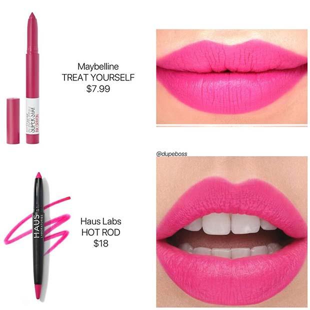 Haus Labs Lipstick Dupe