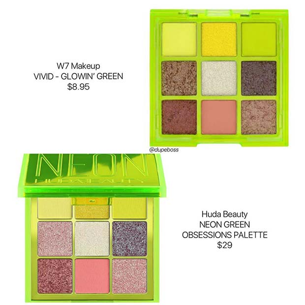 Huda Beauty Neon Obsessions Palette Dupe