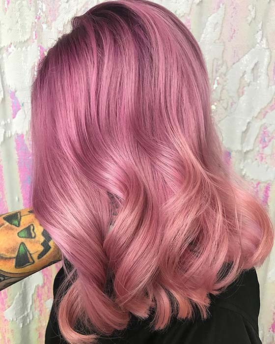 Pastel Pink and Purple Hair