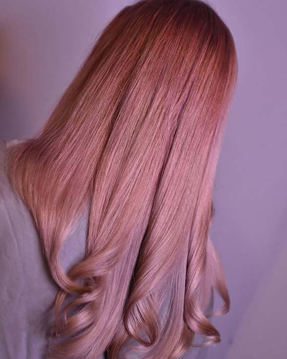 Rosy Hair Color Idea