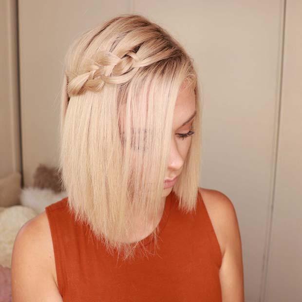 Side Braid Idea for a Bob Haircut