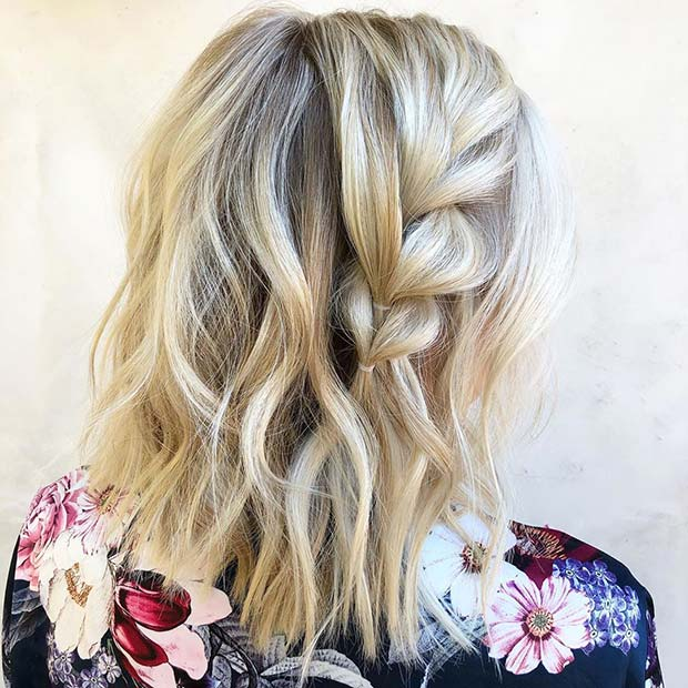 Simple Braid Idea for Short Hair