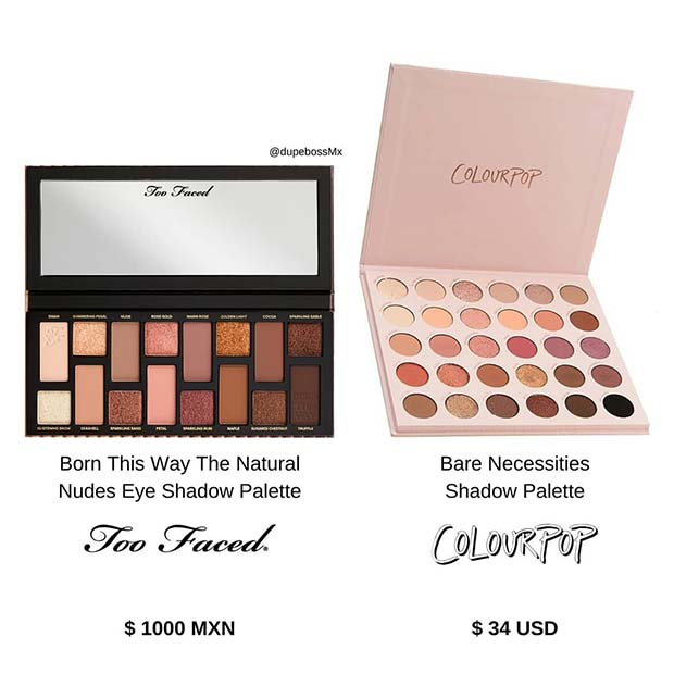 Too Faced Born This Way Palette Dupe