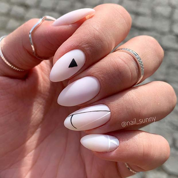 Trendy Almond Acrylic Nails