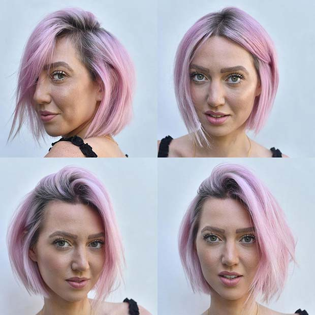 Trendy Light Pink Bob