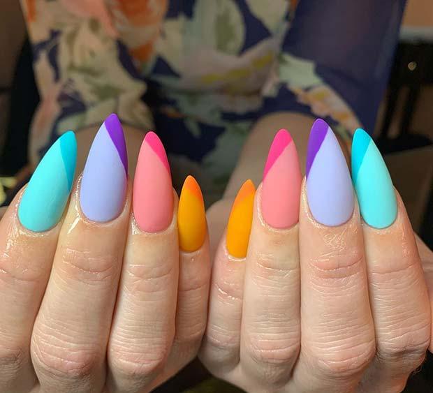 Trendy and Bright Nail Art