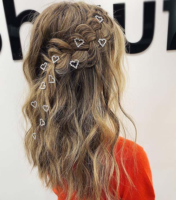 Wavy Hair with Pretty Hearts