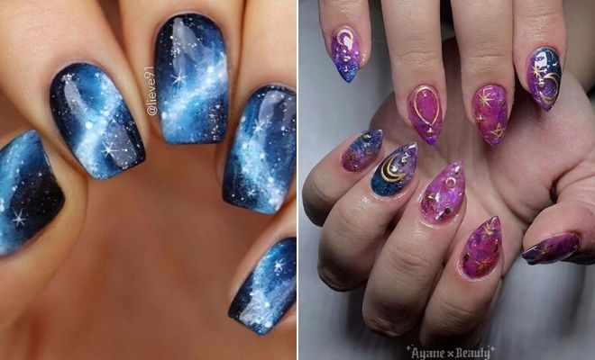 Galaxy Nails Trend - 23 Cute Designs and Ideas   StayGlam