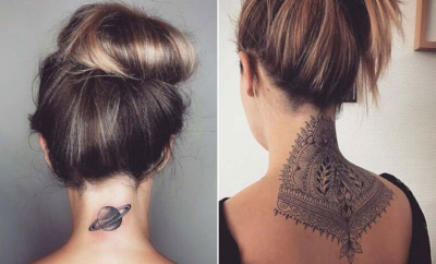 Back of Neck Tattoos for Women