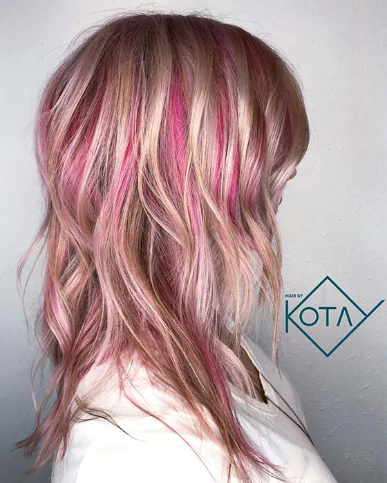 Blonde and Pink Hair Idea