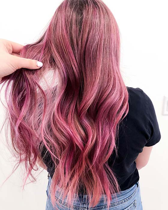 Bold Pink Hair Color Idea