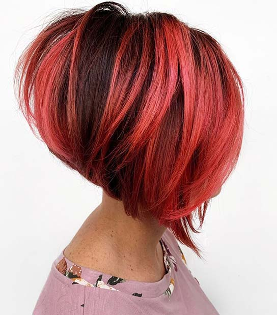 Bold Red Hairstyle