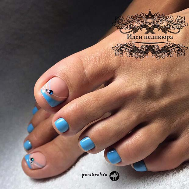 Bright Blue Pedicure