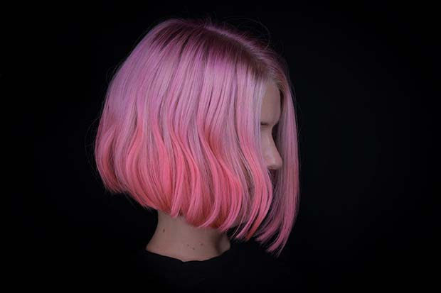 Bright Pink Hair Idea
