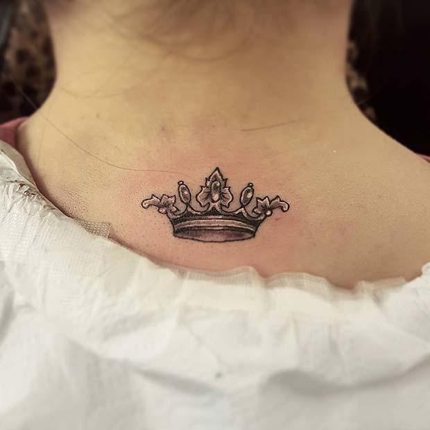 Cute Crown Tattoo Design
