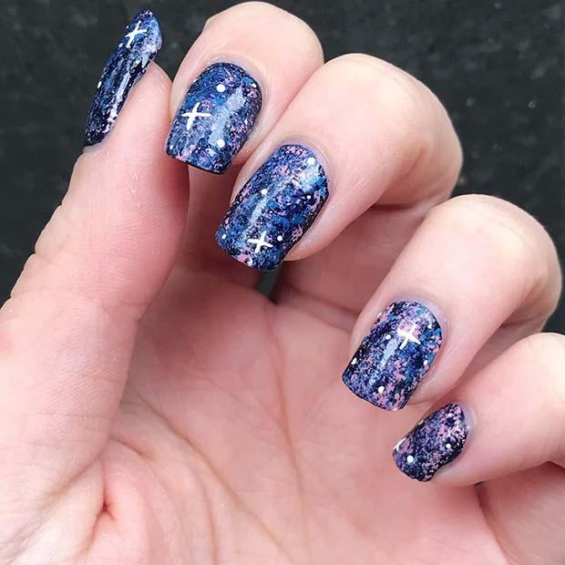 Cute Galaxy Nail Art
