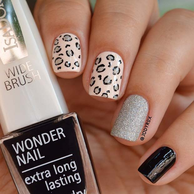 Cute Leopard Mani for Short Nails