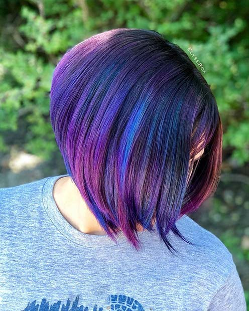 Dark Blue and Purple Hair