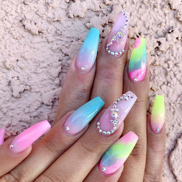 Glam Colorful Nails