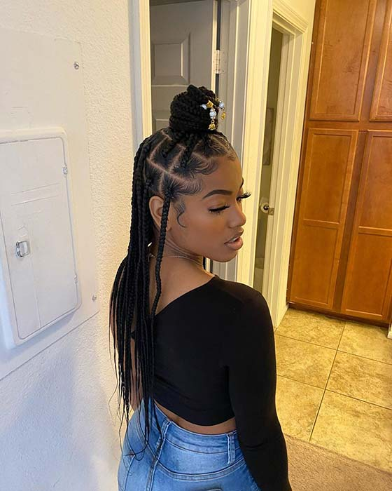 43 Pretty Small Box Braids Hairstyles To Try Page 4 Of 4 Stayglam