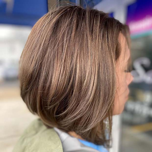 Long Stacked Bob Haircut