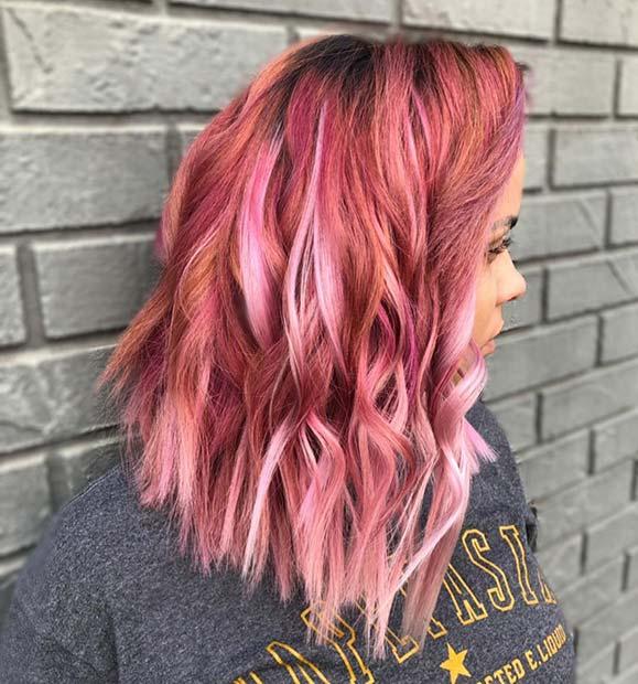 Multi Tone Pink Hair