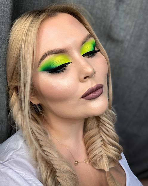 Bold Neon Green and Yellow Blend Eyes