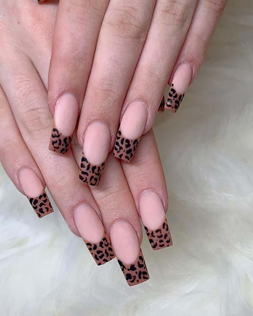 Nude Nails with Trendy Tips