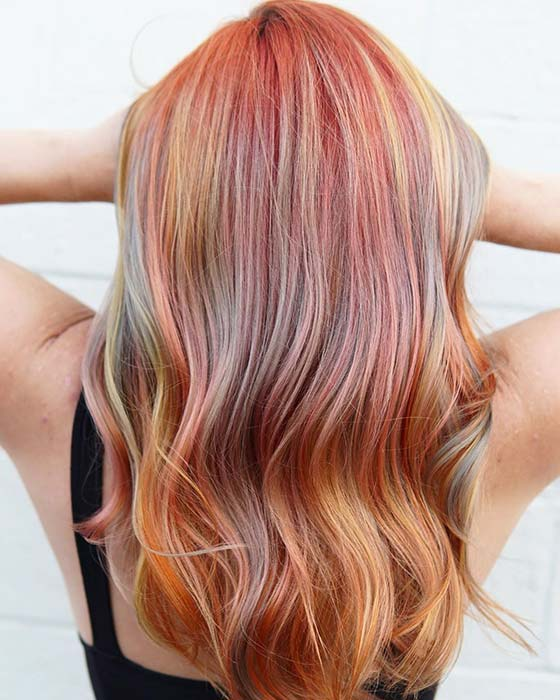 Pink and Multi Color Highlights