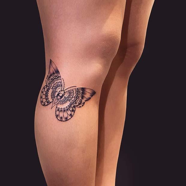 Pretty Leg Tattoo Idea