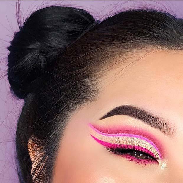 Pretty Neon Pink Eyes
