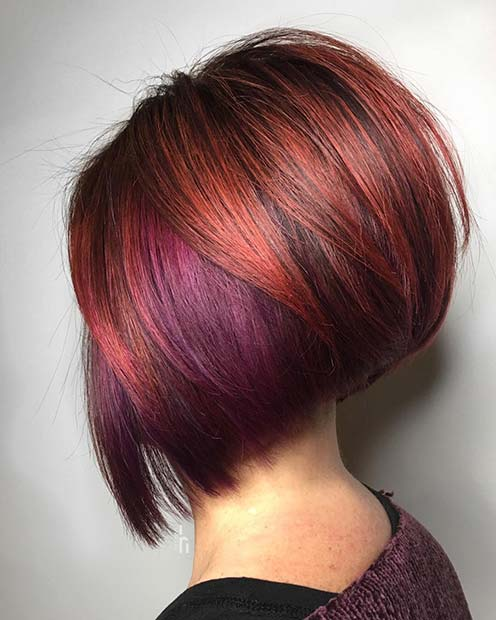Red and Purple Bob Idea