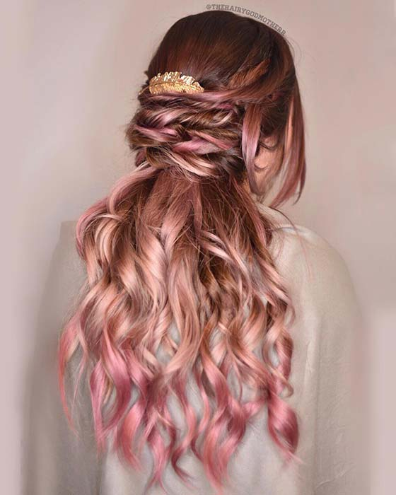 Rose Gold and Pink Hair