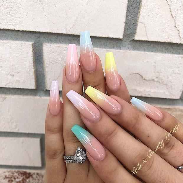 Soft and Subtle Ombre Nails