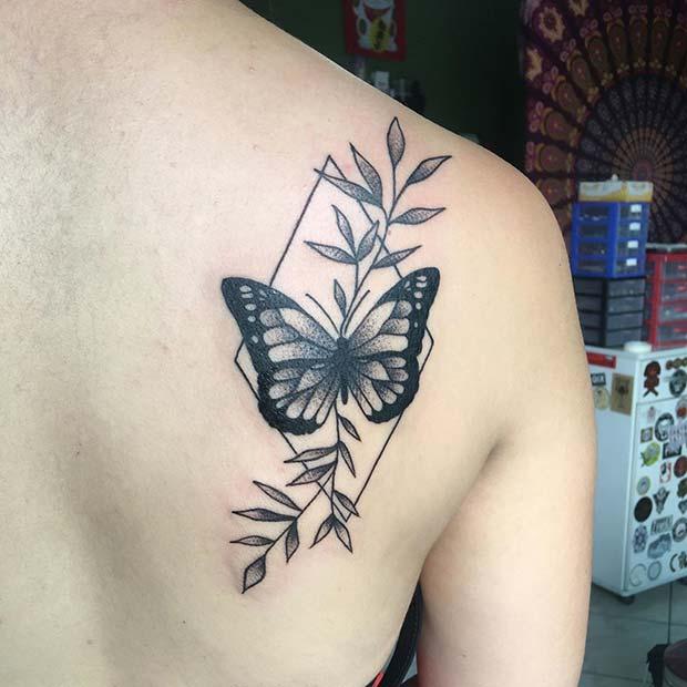 Trendy Butterfly Tattoo