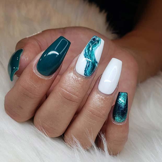 Trendy Marble Nail Art
