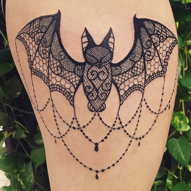 Unique Bat Tattoo Design