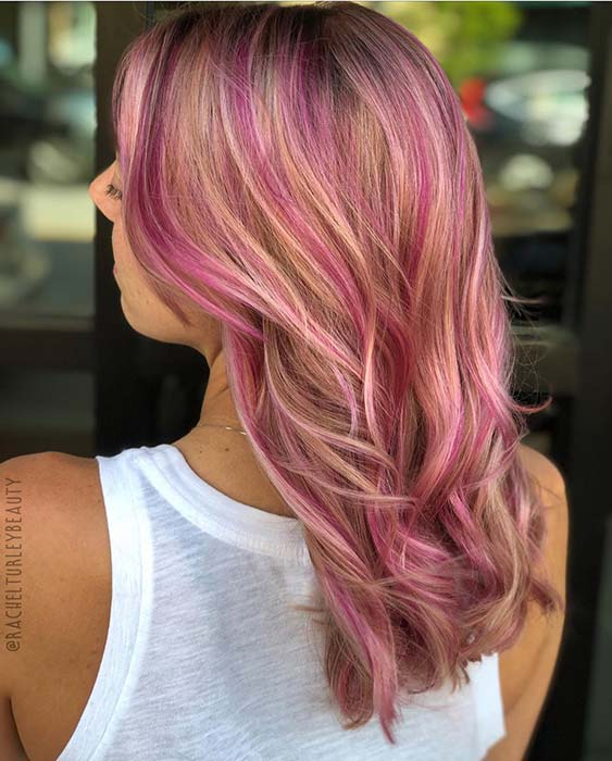 Vibrant Pink Highlights