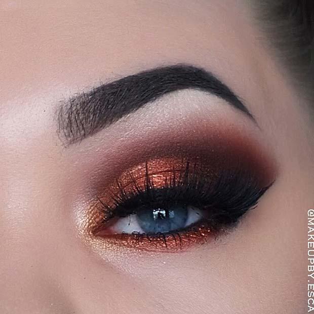 Beautiful Bronze Eye Makeup